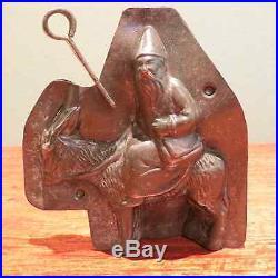Antique Metal Chocolate Claus Donkey Mule St. Nicholas Mold Letang Fils vintage