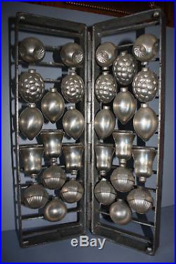 Antique Metal Chocolate Rare Large Display Book Mold Christmas Ornaments