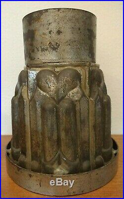 ++ Antique Metal Ice Cream Tower Mold 5 Hearts Food Jelly Chocolate Mould Aafa