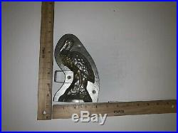 Antique Pre-WWII Standing Stork 2-Piece Chocolate Mold