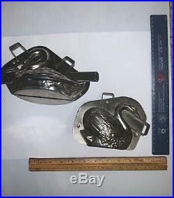 Antique Pre WWII Swan Chocolate Molds(2 molds, 2pieces each)