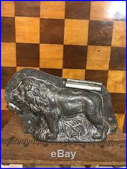 Antique Tc Weygandt 75 Figural Lion Chocolate Mold Vintage Germany