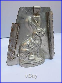Antique Tin Eppelsheimer Sitting Rabbit Chocolate Mold # 4044 with Clips