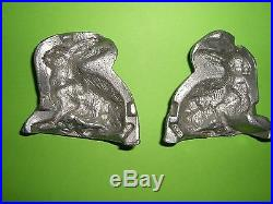 Antique Toy Candy Mold Chocolate Mold Rabbit Sitting. German VERY DETAILED