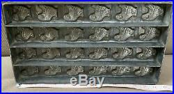 Antique Vintage 24 Turkey Chocolate Candy Mold Heavy Metal 14 1/2 X 8