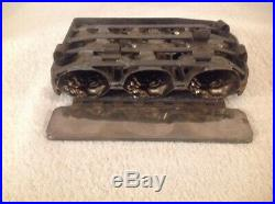Antique Vintage 3 Chocolate Mold Bunny Rabbit Easter 6 5/8 Tall Hinged Candy