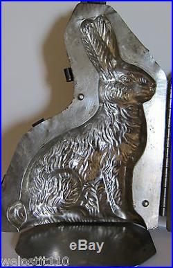 Antique Vintage Bunny Rabbit Chocolate Mold. Eppelsheimer. Huge 12 Tall