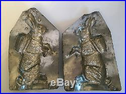 Antique Vintage Bunny Rabbit Chocolate Mold. Huge 8 1/2 Tall. American Mold