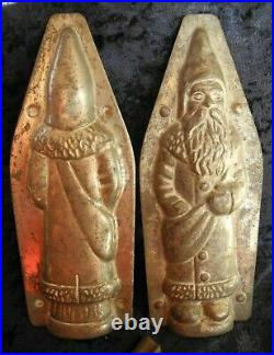 Antique Vintage Chocolate Candy Mold Standing Father Christmas / Santa-clause