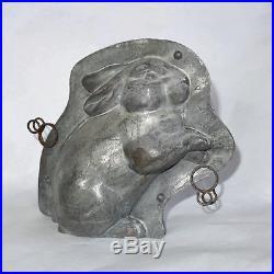 Antique Vintage Chocolate Metal Mold Anton Reiche Rare Old Bunny Rabbit Candy