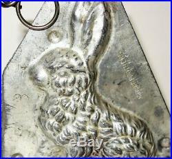 Antique Vintage Chocolate Metal Mold Rabbit Bunny Country Chic Farmhouse Decor