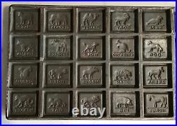 Antique/ Vintage Chocolate Mold 28 Zoo Animals 142 Rare