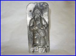 Antique Vintage Chocolate Mold Santa Rare Old German Tin Metal Candy Belsnickle