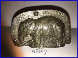 Antique Vintage ELEPHANT CHOCOLATE MOLD. Signed ANTON REICHE