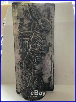 Antique Vintage Easter Bunny Chocolate Ice Cream Mold E &c Rabbit With Apron