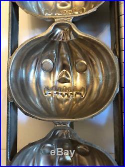 Antique Vintage HALLOWEEN JACK-O-LANTERN PUMPKIN Chocolate Mold