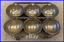 Antique Vintage HALLOWEEN PUMPKIN Jack-O-Lantern Chocolate Mold Metal