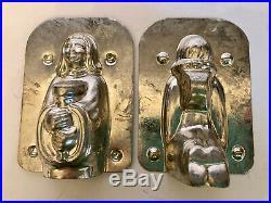 Antique Vintage Kneeling Angel Chocolate Mold. Matfer France