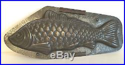 Antique Vintage LARGE FISH CHOCOLATE MOLD. HOLLAND. 13 1/2