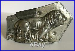 Antique Vintage LION IN GRASS Chocolate Mold. H. WALTER BERLIN, GERMANY