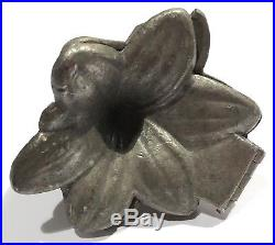 Antique / Vintage Large Lily Blossom Sculpture Chocolate / Candy Metal Mold