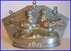 Antique Vintage Lovebirds Chocolate Mold. Large 11 Wide