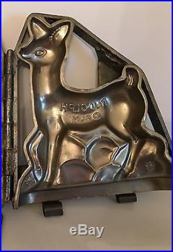Antique Vintage Rudolph The Red Nose Reindeer Chocolate Mold
