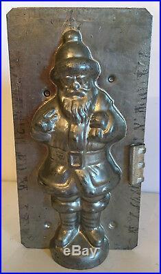 Antique Vintage SANTA CHOCOLATE MOLD. 8 tall
