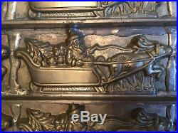 Antique Vintage SANTA IN SLEIGH WITH REINDEER CHOCOLATE MOLD. EPPELSHEIMER-RARE