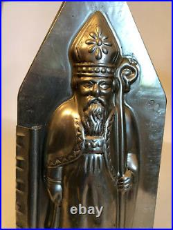 Antique Vintage ST. NICHOLAS OLD WORLD SANTA Chocolate Mold. FRENCH MAFTER