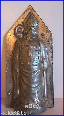 Antique Vintage ST. NICHOLAS with STAFF Chocolate Mold