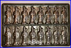 Antique Vintage St. Nicholas Chocolate Mold. Signed Wien. Beautifu