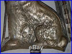 Antique Vintage TC WEYGANDT NY Double Sided Hinged Large Rabbit Chocolate Mold