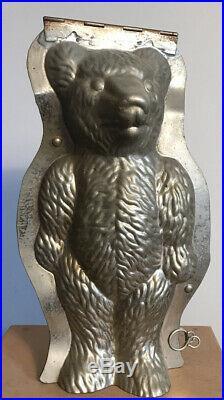 Antique Vintage Teddy Bear Chocolate Mould Large No Signature 2644