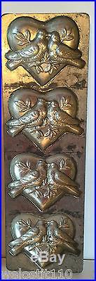 Antique Vintage VALENTINE HEARTS LOVE BIRDS CHOCOLATE MOLD. ANTON REICHE