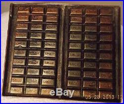 Antique Vtg Anton Reich 41 Dresden Chocolate 60 Pc Candy Mold Tjoklat
