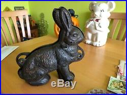 Antique Vtg Griswold Cast Iron Easter Bunny Rabbit Chocolate Cake Mold 862 / 863