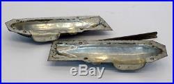 Antique WW1 ZEPPELIN AIRSHIP Tin Metal CANDY CHOCOLATE MOLD & Clips / Hindenburg