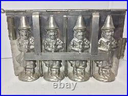 Antique Witch Chocolate Mold Vintage Germany Made Size 9 1/2x 6