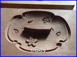 Antique Wooden Japanese Cake Mold Chocolate KASHIGATA Japan Tsuba Samurai Sword