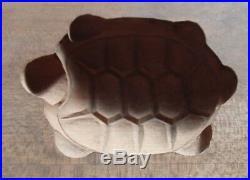 Antique Wooden Japanese Cake Mold Chocolate KASHIGATA Japan wood Turtle! Nice