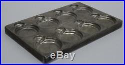 Antique chocolate mold Antike seltene Schokoladen Form Taschenuhr Motiv
