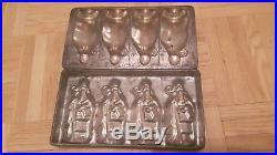 Antique chocolate mold Santa Saint Nicholas 1880/1900