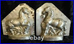Antique vintage chocolate candy mold shape figure running horse