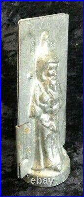 Antique vintage chocolate shape mold tag dancing dolphin no 2037 santa claus