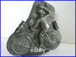 Anton REICHE 7871 MAN ON BICYCLE CHOCOLATE MOLD ANTIQUE VINTAGE