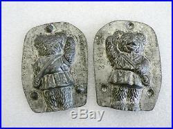 Anton Reiche 3 Teddy Bear Girl 26614 Purse Chocolate Mold Antique Vintage