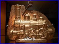 Anton Reiche Train 9954 Chocolate Mold Mould Schokoladenform Vintage Antique