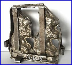 BUNNY 2 RABIT CHOCOLATE MOLD MOULD GERMANY MOLDS VINTAGE ANTIQUE 7x7
