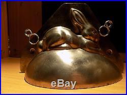BUNNY HÖRNLEIN Rabbit on an egg CHOCOLATE MOLD MOLDS VINTAGE ANTIQUE CANARD